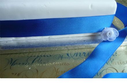 Luxury wire edge Royal Blue 38mm width ribbon ideal for weddings, Christenings, decorations, cakes, bows etc